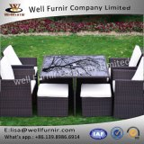 Well Furnir T-051 8 Seaters Space-Saving Rattan Cube Dining Set