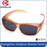 Vintage Oval Sunglass Clips on Oversized Sunglasses Fashion Cycling Trekking Travelling Brown Fame Black Lens