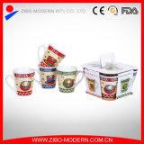 4PCS V Shape Coffee Mug with Imprint
