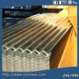 Galvanized Beautiful Antique Corrugated Metal Roof Tile