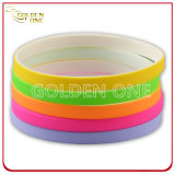 Factory Wholesale Cheap 1/4 Inch Colorful Silicone Wristband