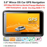 "Factory Sale 5.0"" Car Truck Marine GPS Navigation with Wince 6.0 GPS Navigation System, FM, AV Parking Rear Camera, GPS Navigator Tracking Antenna, Bluetooth"
