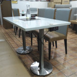 New Design Modern Artificial Stone Restuarant Home Furniture Marble Hot Pot Dining Table