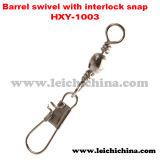 Fishing Barrel Swivel with Interlock Snap