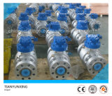 API Three Pieces Carbon Steel Flanged Trunnion Mounted Ball Valve