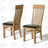 Wooden Diningroom Furniture /Solid Oak Wood Slat PU Dining Chair Wooden Chair (CO4118)