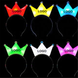 Custom Print Plastic LED Glow Crown Headband