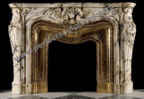 Marble Fireplace Surround with Stone Granite Limestone Sandstone Granite (QY-LS381)