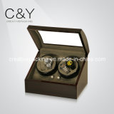 4+6 Matte Finish Lacquer Veneer Wood Automatic Watch Winder