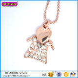 2015 Cute Jewelry T-Shirt Necklace Rose Gold Necklace with Diamonds