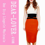 2016 New Arrival Women′s Celebrity Style Waist Accented Pencil MIDI Dress