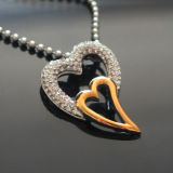 Heart Pendant Necklace Luxurious Jewelry Women Zircon Heart Necklaces Collier