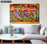 2017 New Graffiti Street Wall Art Abstract Oil Painting