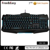 Waterproof Cool 3 Color LED Wired Gaming Keyboard