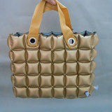Gold Color PVC or TPU Inflatable Bubble Handbags for Beach or Camping