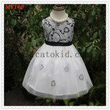 Taffeta Tulle Embroidery Flower Prom Dress for Girls