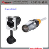 RJ45 Waterproof Connector with LED and Transformer Cae 5e