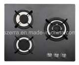 8mm Thickness Black Tempered Glass Gas Hob