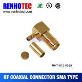 Right Angle Crimp SMA Female Connector for Cable Rg174