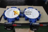 Teflon PTFE Lug Type Butterfly Valve with Ce ISO Wras Approved