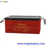 Rechargeable Solar Gel Battery 12V300ah for High Temperature Power Use