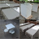 Square White Marble Stone Solid Surface Coffee Tables