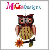 New Promotion Fall Havest Glitter Owl Metal Home Decor