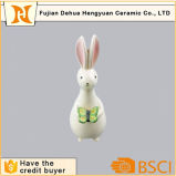 Ceramic Animal Statue Easter Rabbit for Garden Decoration