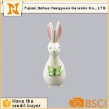 Ceramic Animal Statue Easter Rabbit for Garden Decoration