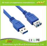 USB3.0 Am to Af Cable in Blue Color
