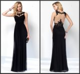 Black Chiffon Lace Wedding Formal Gowns Evening Dress M71303