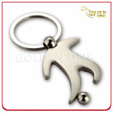 Football Player Metal Zinc Alloy Keychain Promotional Gift