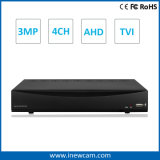 4CH 3MP/2MP CCTV Remote Software Ahd/Tvi Digital Video Recorder