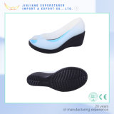 White Woman Jelly Sandals, High Heel Wedge Sandals with Fish Mouth