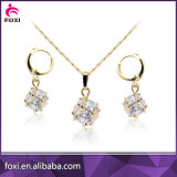 Luxury Design Cooper Fashion Dubai Gold Plated Jewelry Set for Party