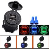 5V 4.2A Dual USB Mobile Phone Charger Socket Adapter Power Outlet for 12V-24V Motorcycle Car