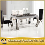 Marble Dining Room Family Table Set