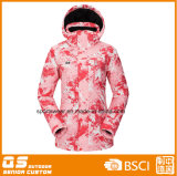 Women′s Printing Fashion Ski Jacket