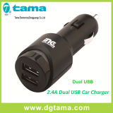 2.4A Black Dual USB Car Charger for iPhone and Smartphones