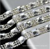 Clear with Silver Crystal 1.5cm Width Fancy Bridal Dress Belt Trim Wedding Cake Banding Rhinestone Wedding Banding (TS-048)