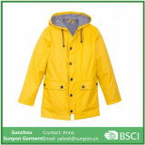 Best Quality Yellow 100% Waterproof, Breathable, PVC Rain Coat /Raincoat