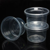 PP Clear Pudding & Yoghourt Plastic Bowl with Cover