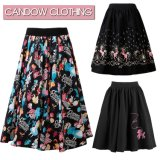 2017latest Designs Women MIDI Length Pleased Printed Skirts