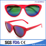 New Promotion Cute Design Red Kids Coating Sunglasses