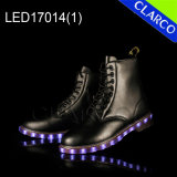 Fashion Women Casual LED Light Boots with Leather Upper