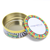 Cookies Candy Tin Box with Golden Lacquer Inside