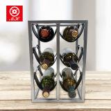 Factory Customized 6 Bottle Iron+PU Wine Rack of Home Furniture