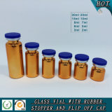 UV Electroplated Amber Tubular Bottle Glass Vial