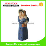 Porcelain Kindness Woman with Baby Statue for Home Decor Gift