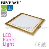 Electroplated Aluminum 20W Gold LED Panel Light